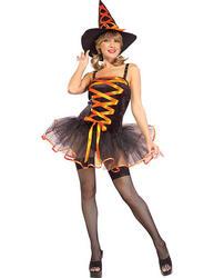 View Item Orange Ballerina Witch Costume