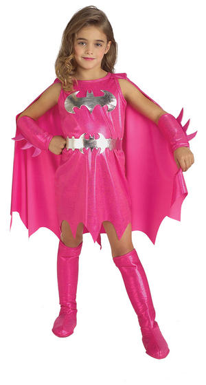 View Item Girl's Pink Batgirl Fancy Dress Costume