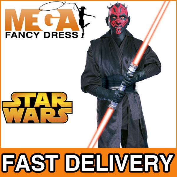 super luxurioeses herren star wars kostuem darth maul outfit mit maske. Black Bedroom Furniture Sets. Home Design Ideas