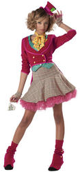 View Item Girl's Teen Mad Hatter Fancy Dress Costume