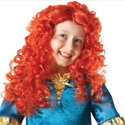 View Item Girl's Brave Merida Fancy Dress Wig