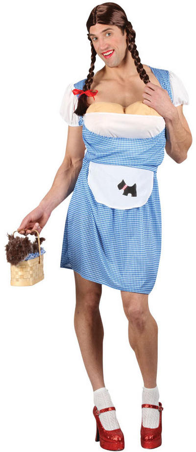 Men's Funny Dorothy Drag Fancy Dress Costume