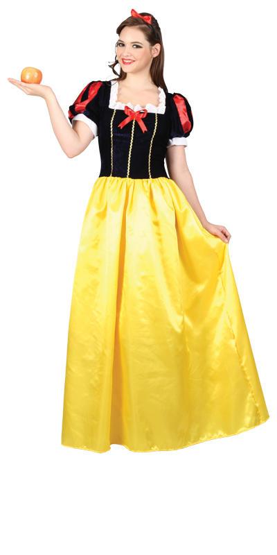 Snow-White-Princess-Long-Fancy-Dress-Fairytale-Ladies-Costume-Outfit-UK-6-22