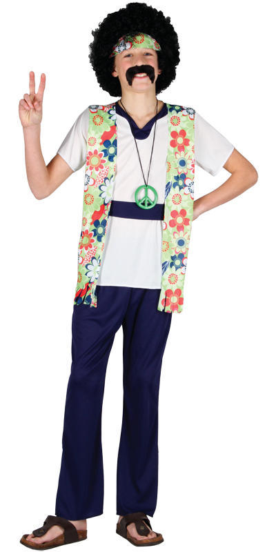Boys Teen Peace Man Hippie Costume