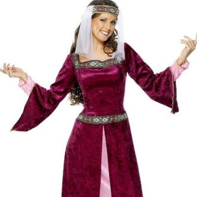 Maid-Marion-Ladies-Medieval-Robin-Hood-Fancy-Dress-Womens-Costume-Outfit-UK-8-18