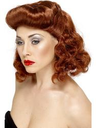 View Item Auburn Pin Up Girl Wig