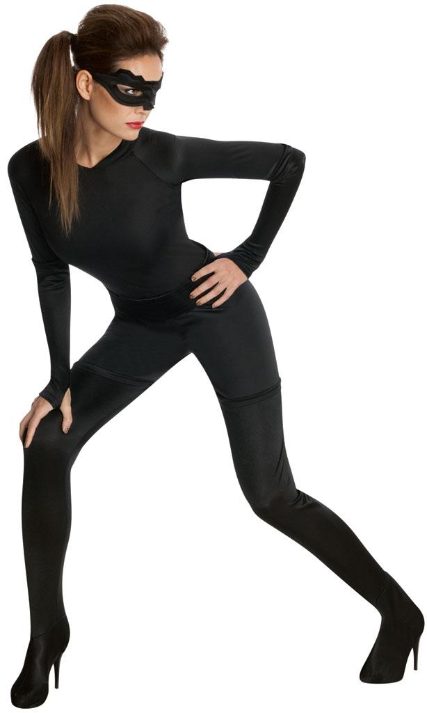 damen kost m catwoman batman superheld halloween kost m outfit ebay. Black Bedroom Furniture Sets. Home Design Ideas