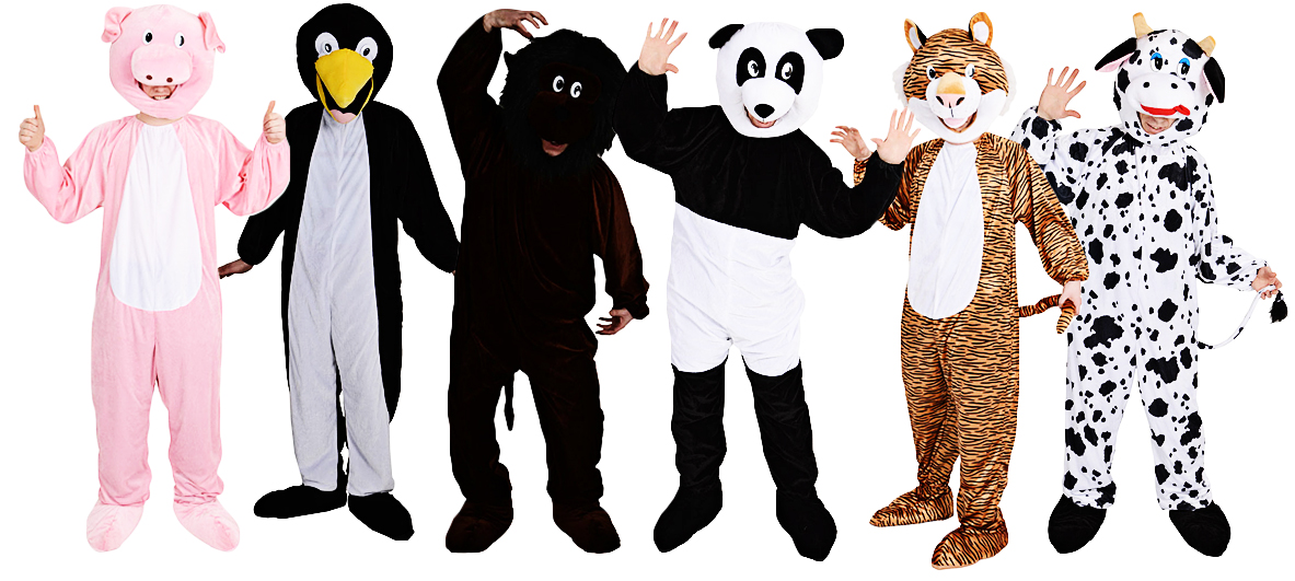 Deluxe Jungle Zoo Animal Mini Mascot Fancy Dress Adult Mens Halloween Costume