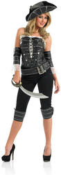 View Item Ladies Ship Mates Pirate Fancy Dress Costume