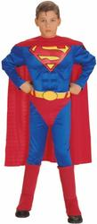 View Item Boy's Superman Deluxe Muscle Chest Fancy Dress Costume