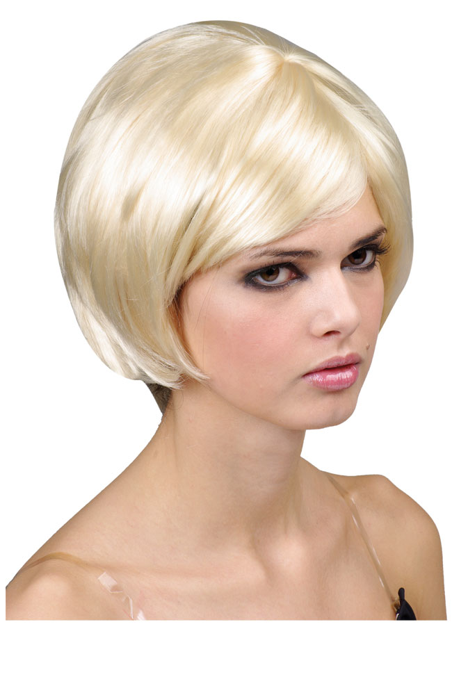 Blonde Bob Wig Fancy Dress 108