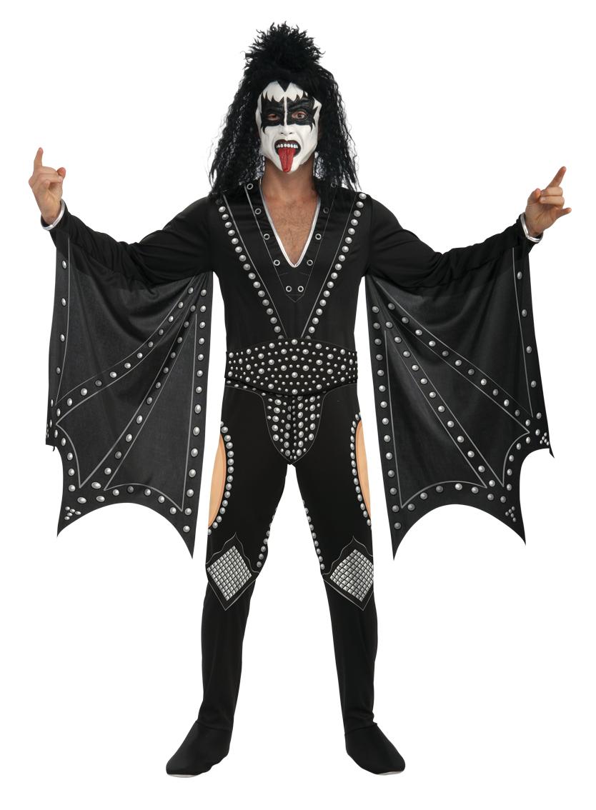 kiss the demon fancy dress mens music celebrity halloween. Black Bedroom Furniture Sets. Home Design Ideas