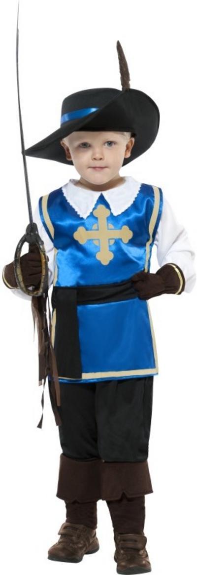 Kid's Blue Musketeer Costume