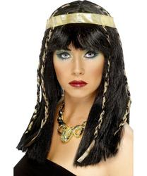 Cleopatra Egyptian Braided Wig with Gold Headband