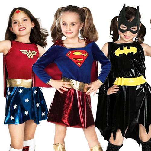 Image is loading Girls-Superhero-Batgirl-Supergirl -WonderWoman-Fancy-Dress-Halloween-  sc 1 st  eBay & Girls Superhero Batgirl Supergirl WonderWoman Fancy Dress Halloween ...