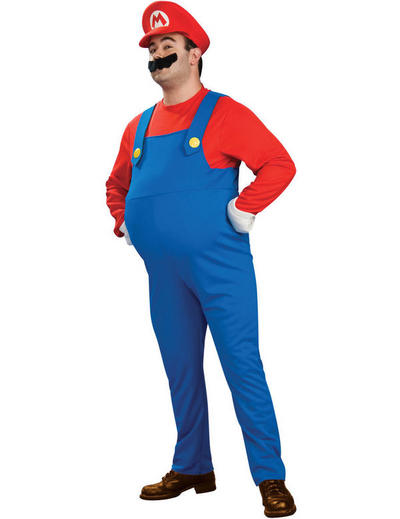 Deluxe Super Mario Plus Size Costume