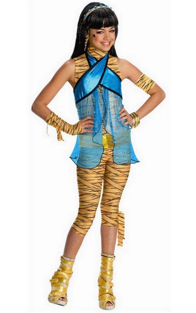 Girls Cleo de Nile Monster High Fancy Dress Kids Halloween Costume ...