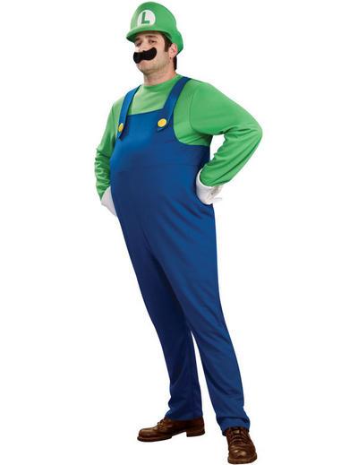 Plus Size Deluxe Super Mario Luigi Costume