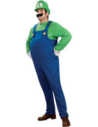 View Item Plus Size Deluxe Super Mario Luigi Costume