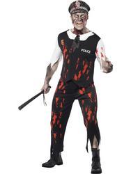 View Item Zombie Policeman Halloween Costume