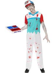View Item Boys' Teen Zombie Pizza Delivery Halloween Fancy Dress Costume