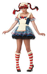 View Item Girl's Rag Doll Fancy Dress Costume