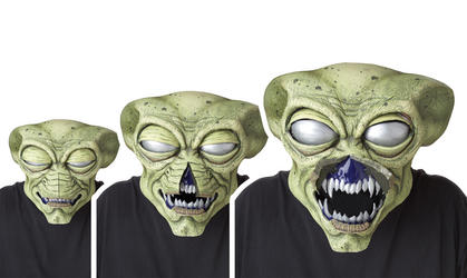 View Item Alien Visitor AniMotion Halloween Mask