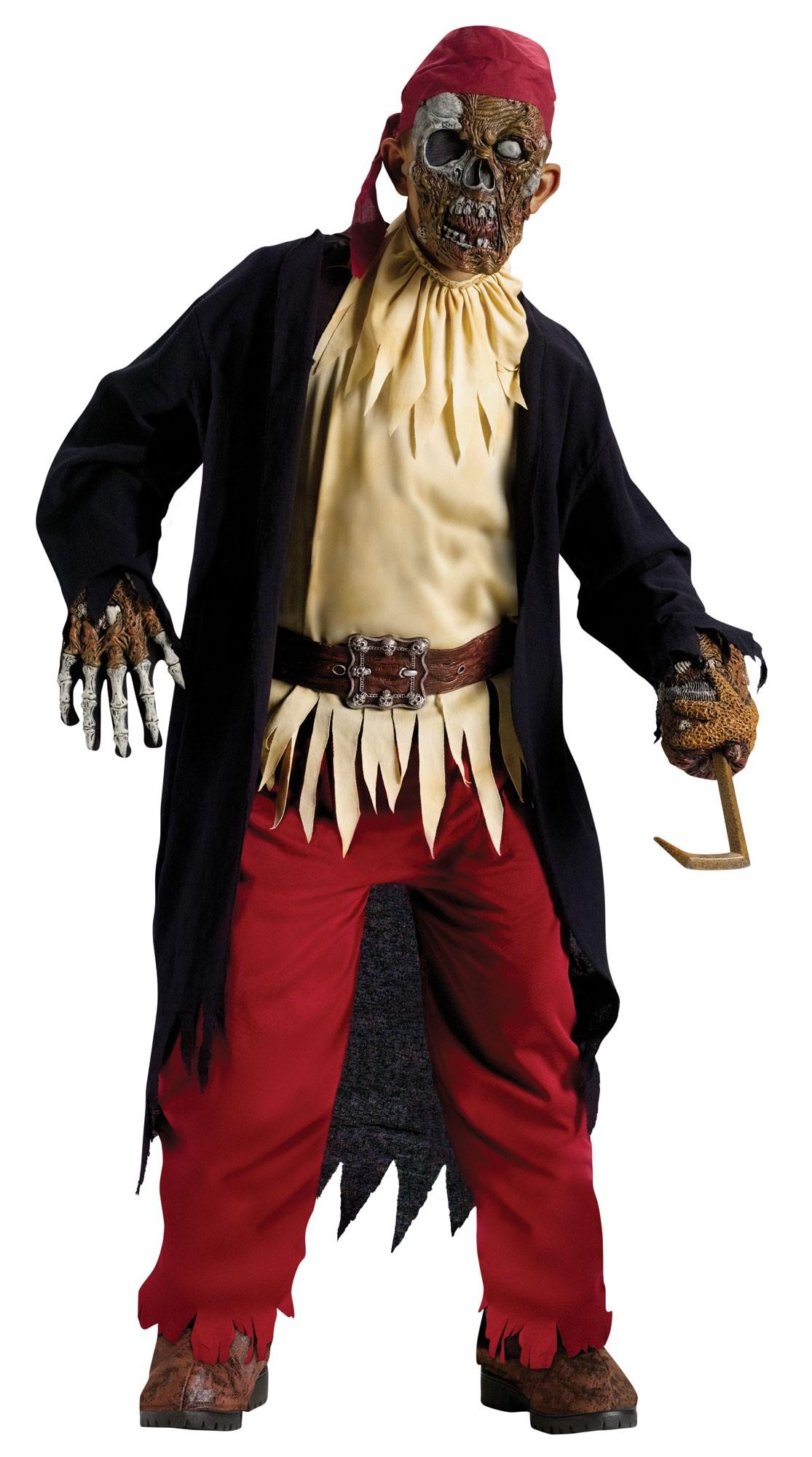 Deluxe Boys Zombie Fancy Dress Halloween Costume Kids Child ...