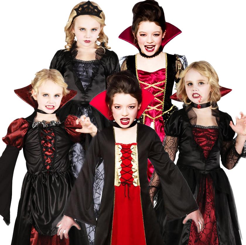 -Queen-Vampire-Princess-Halloween-Kids-Fancy-Dress-Costume-Age-3-10Vampire Queen Costume For Kids