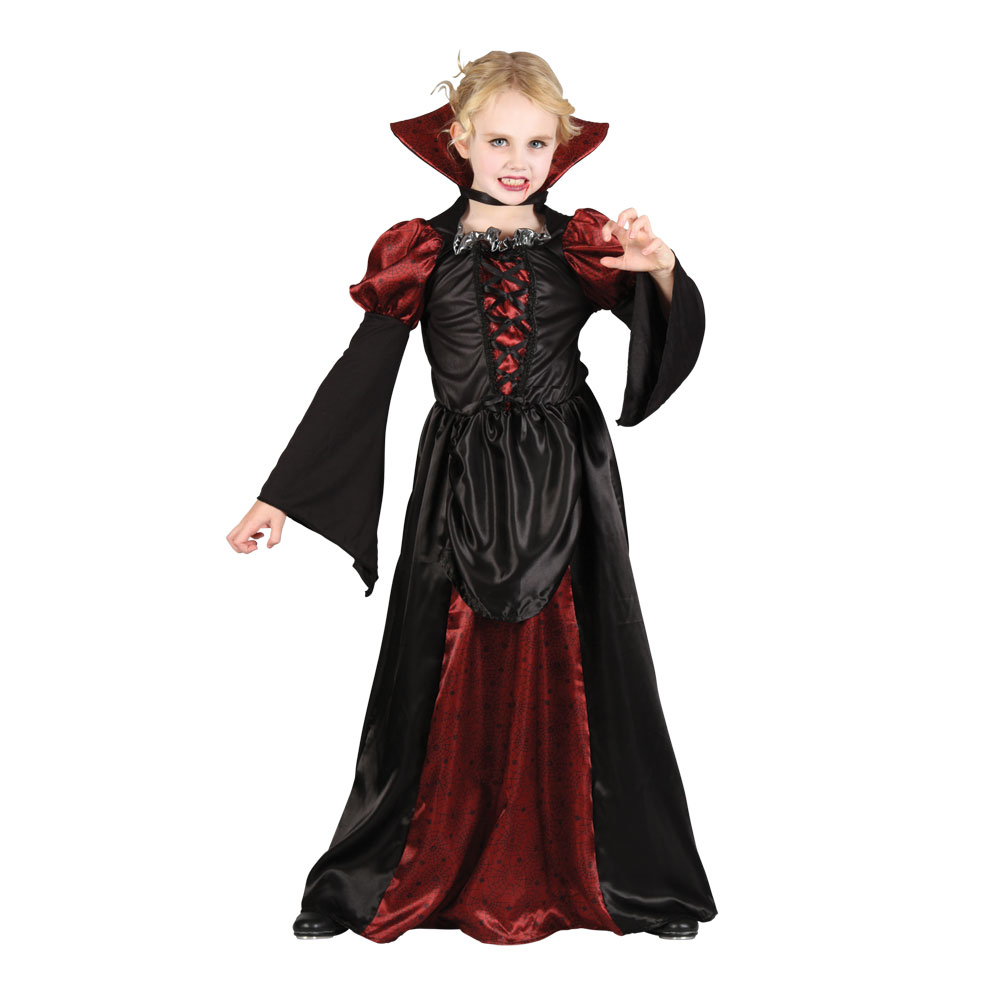 girls wicked queen vampire princess halloween kids fancy. Black Bedroom Furniture Sets. Home Design Ideas