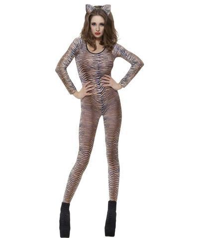 Tiger Print Bodysuit Costume