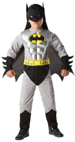 Kid's Licensed Batman Total Armour Muscle Chest Costume