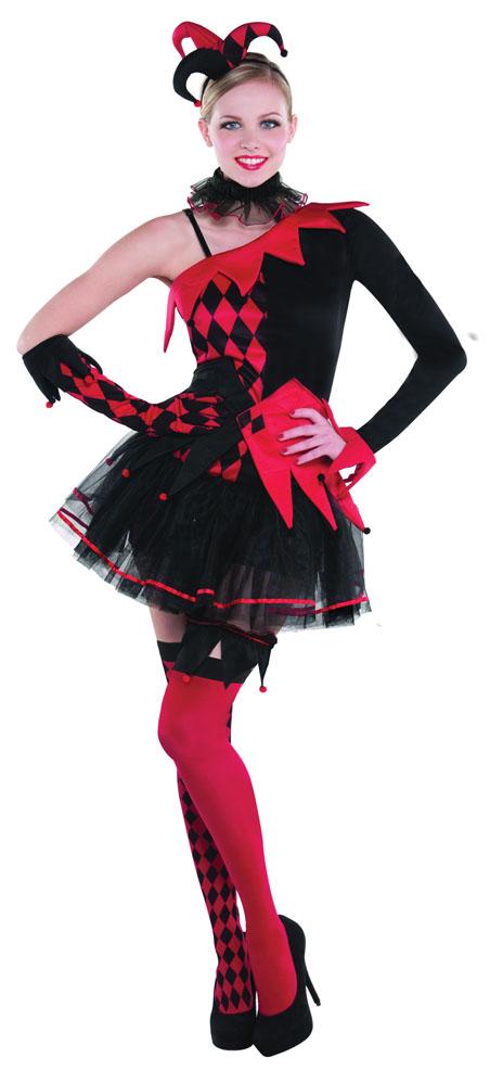 Jester Halloween Costumes Mens Ladies Medieval Adults Fancy Dress ...