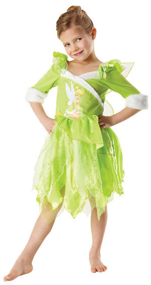 Girls' Tinkerbell Winter Wonderland Fancy Dress Costume