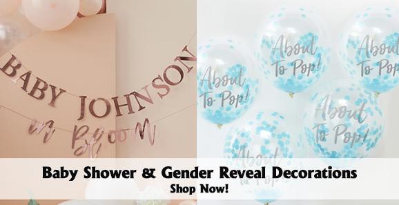 Gender Reveal & Baby Shower Decor