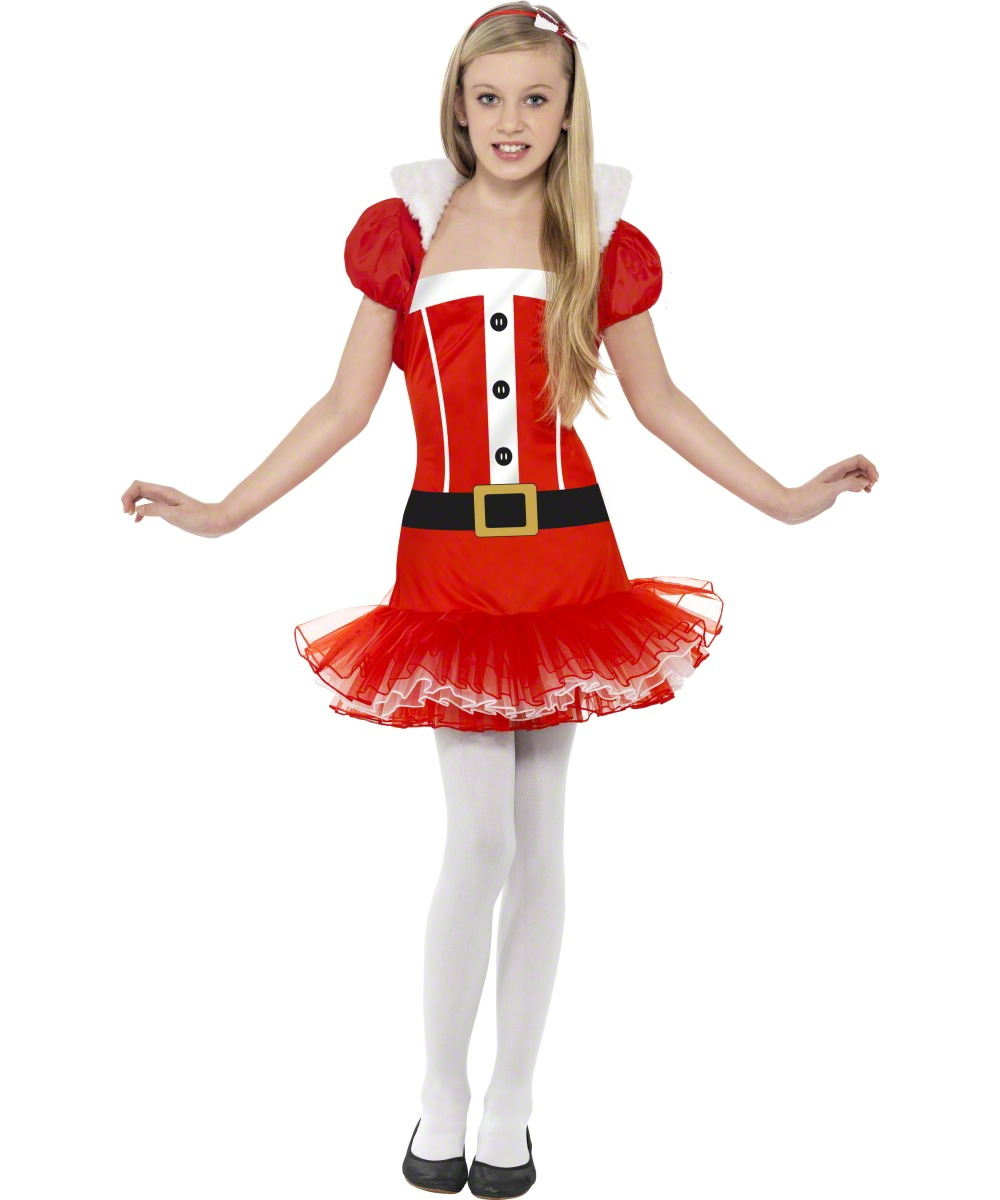 Teen Santa Girl Tutu Dress Girls Christmas Party Fancy Dress ...