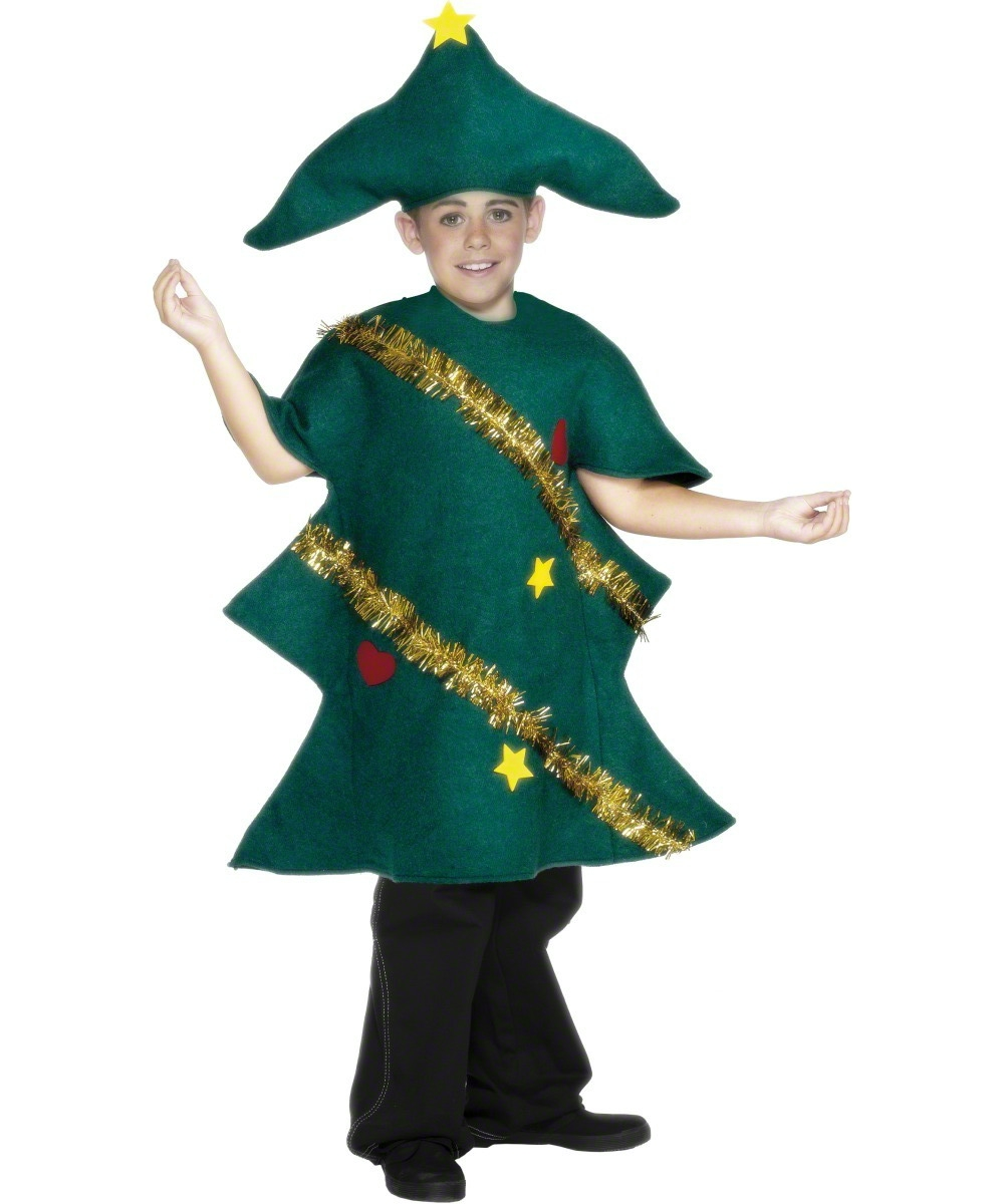 Christmas Tree Kids Fancy Dress Christmas Party Boys Girls Costume ...