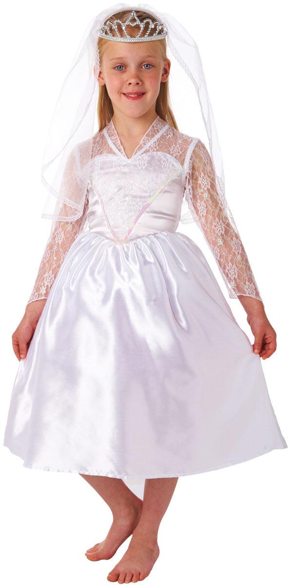 beautiful bride girls fancy dress kids costume fairytale wedding