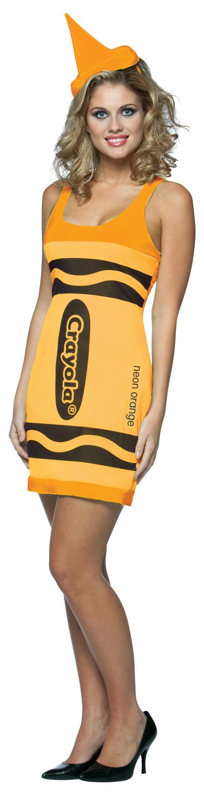 Neon Orange Crayola Crayon Dress
