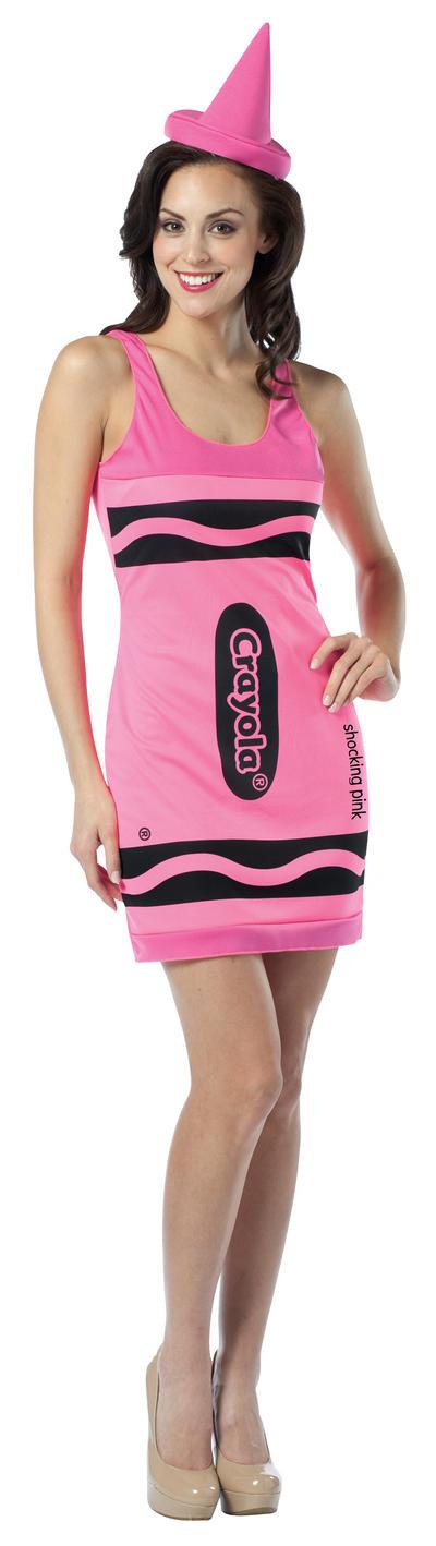 Neon Pink Crayola Crayon Dress