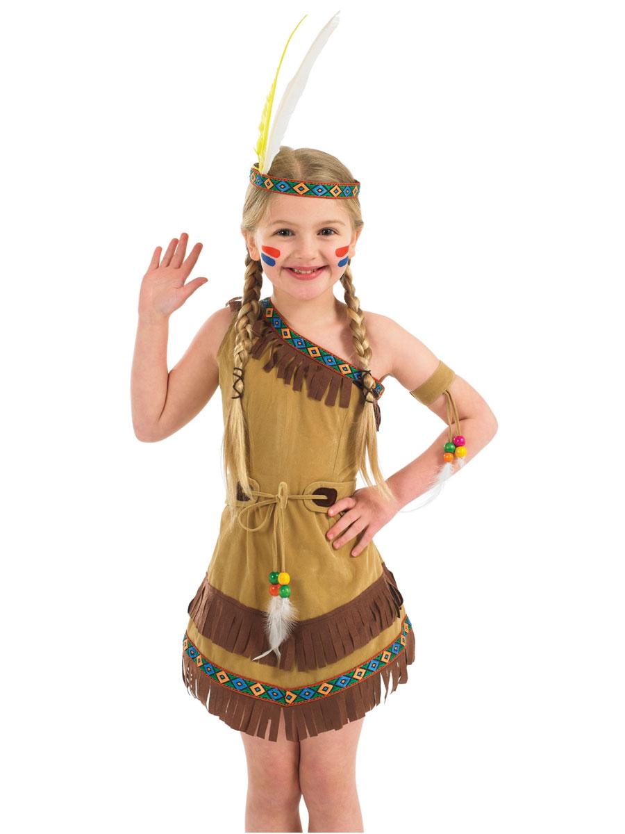 indian girl kids fancy dress costume outfit native. Black Bedroom Furniture Sets. Home Design Ideas