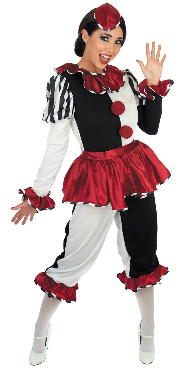 Harlequin-Clown-Ladies-Costume-Hat-Halloween-Circus-Womens-Fancy-Dress-Outfit