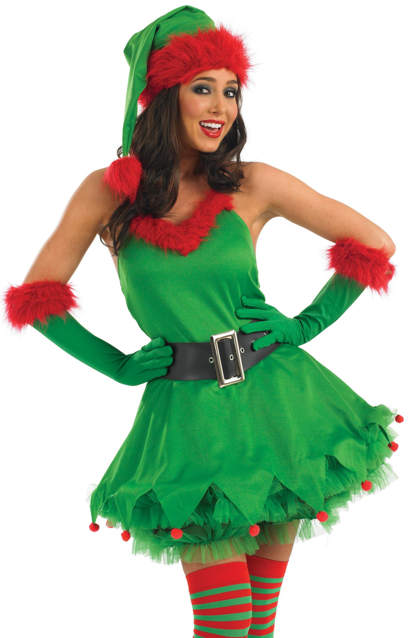 Deluxe sexy elf ladies santas little helper christmas