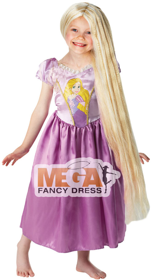 rapunzel kost m m dchen kinder lange per cke disney verkleidung 3 8 jahre ebay. Black Bedroom Furniture Sets. Home Design Ideas