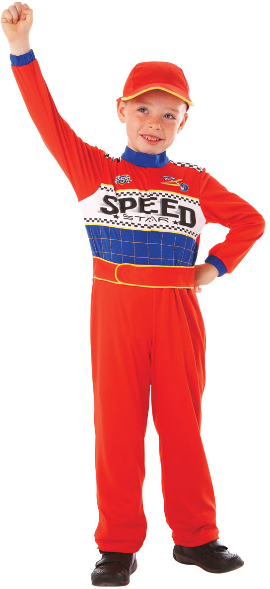 racing car driver boys uniform fancy dress grand prix sports kids costume 3 8 y