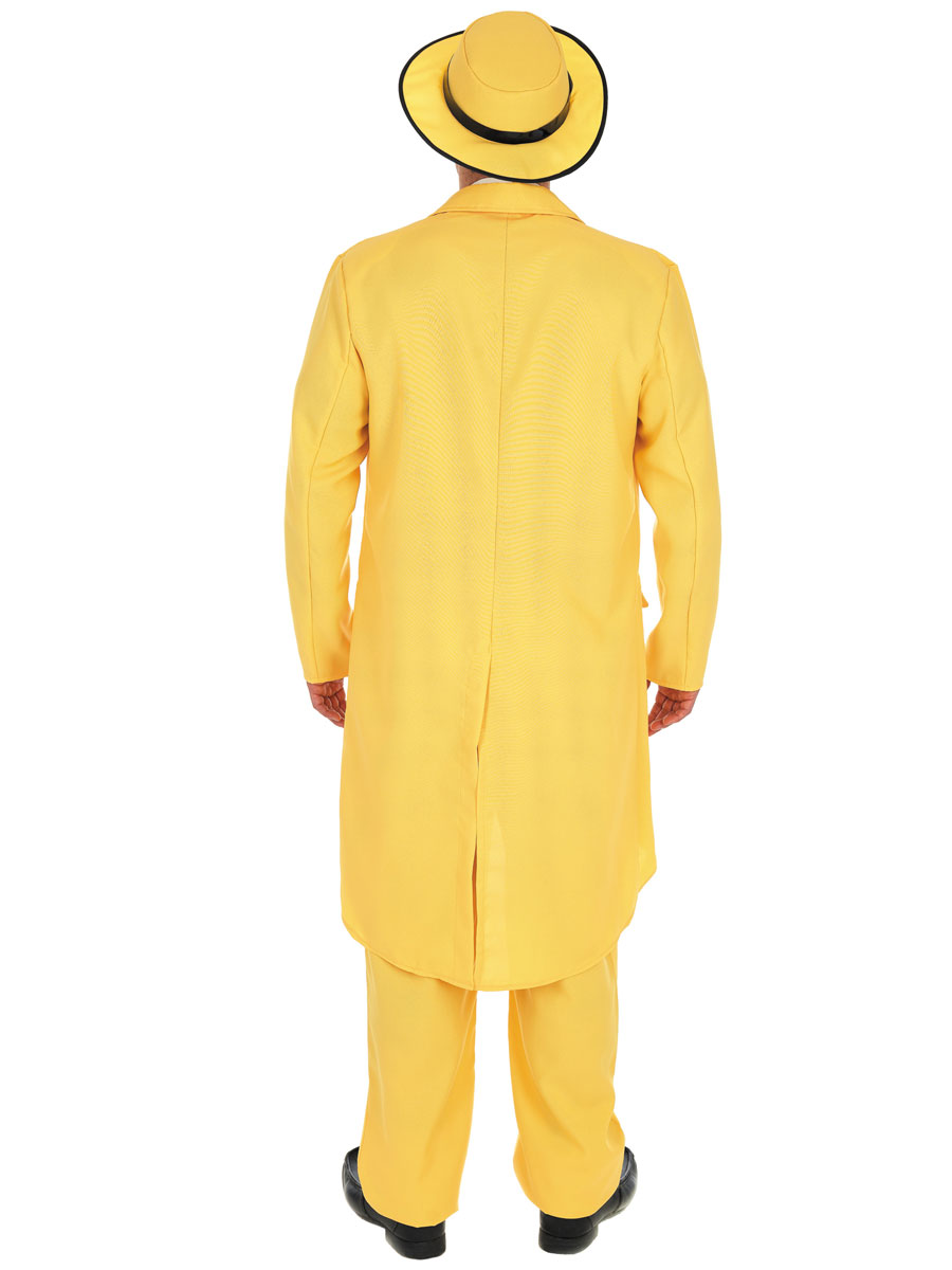 Yellow Zoot Suit Mens Gangster Fancy Dress The Mask Jim Carrey ...