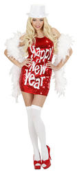 View Item Ladies Red New Year Bling Dress