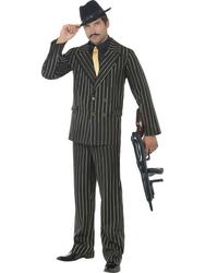 View Item Gold Pinstripe Gangster Suit Costume