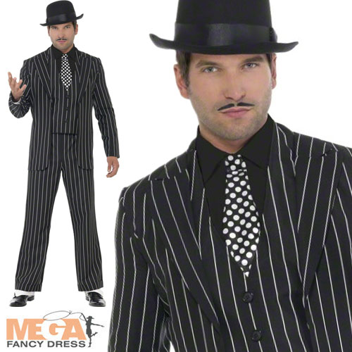 Image Is Loading Vintage Gangster Boss Suit Mens Fancy Dress 1920s