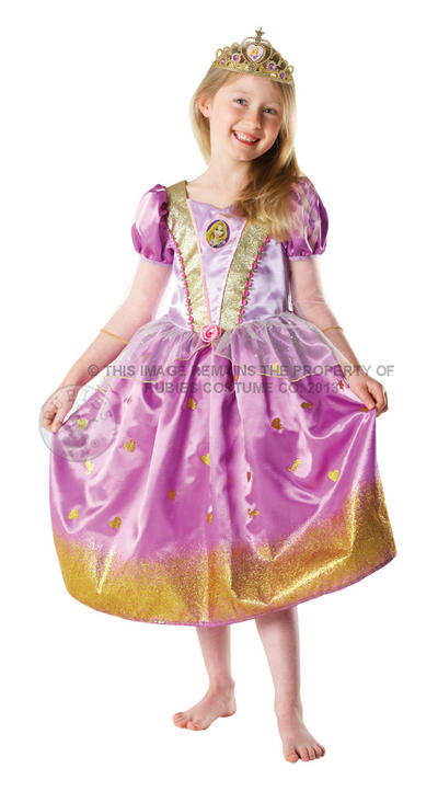 Girl's Glitter Rapunzel Disney Princess